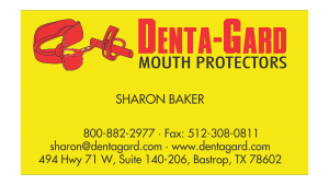Denta-Gard Business Card Front