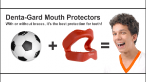 Denta-Gard Mouth Protector Rack Card