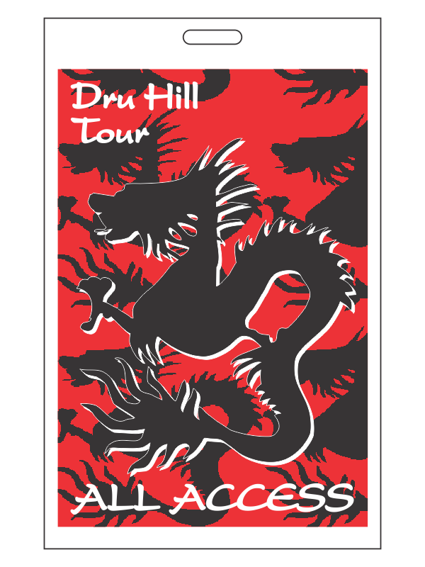 Dru Hill Tour Back Stage Passes
