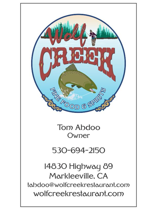 Wolf Creek Restaurant Business Cards