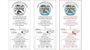 Wolf Creek Restaurant Counter Card